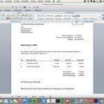 Rechnungsprogramm  oder Word? Ein Vergleich.