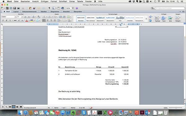 Rechnungsprogramm Oder Word Ein Vergleich